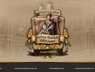 """Žaidimas """"Barbora Radvilaitė. Kalbos turtai"""""""