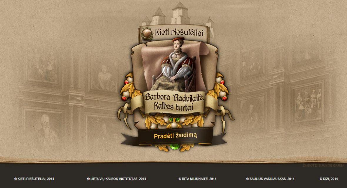 """Educational game """"Barbora Radvilaitė. Kalbos turtai"""""""